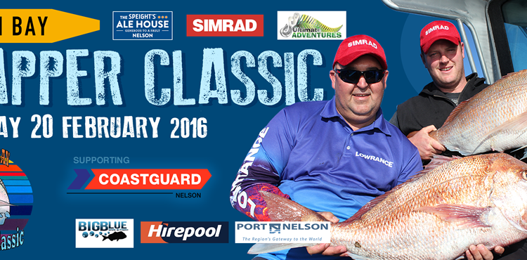 Tasman bay snapper classic 2016 – Win a DNA boat and Honda package